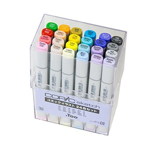 Too Copic sketch comic illustrations 24 color set by Too