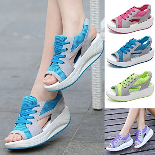 rackerose New Fashion Women Sandal Summer Shoe Fish Head Sandals Women's Shoes Increased Shoes Canvas Shoe