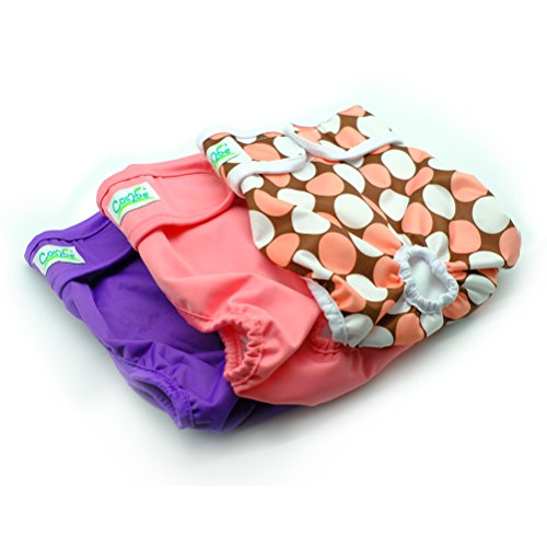 Cos2be Female Dogs Diapers Washable Reusable Wraps,Soft & Comfortable Diapers for Small to Middle Dog-Pack of 3(XS) ()