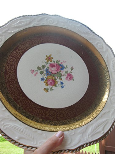 Antique gilded porcelain plate (dish), Adam Antique by Steubenville, 14