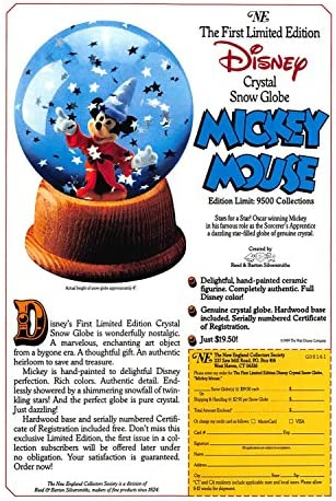 1980\u2019s Happy Dwarf Snow Globe The First Limited Edition Disney Crystal Snow Globe Collection Snow White and the Seven Dwarfs Snow Globe
