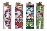 Bic NFL New England Patriots Lighters Brand New 2016 Designs (Patriots Helmet 4pk)