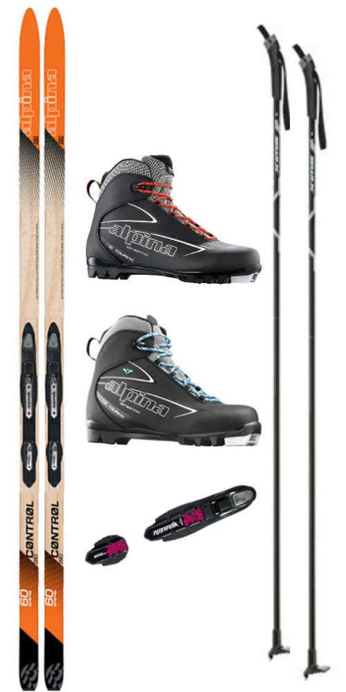 Alpina Control 60 Cross Country Ski Package Skis, Boots, Bindings, Poles