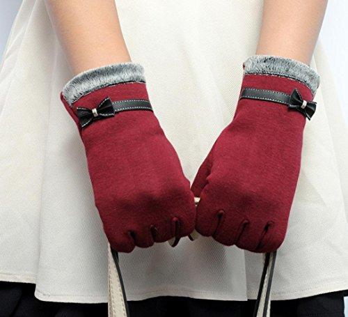 Beautyvan, Womens Fashion Touch Screen Winter Warm Wrist Gloves Mittens