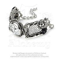 Rose Garden Cobweb Quartz Crystal Watch by Alchemy Gothic