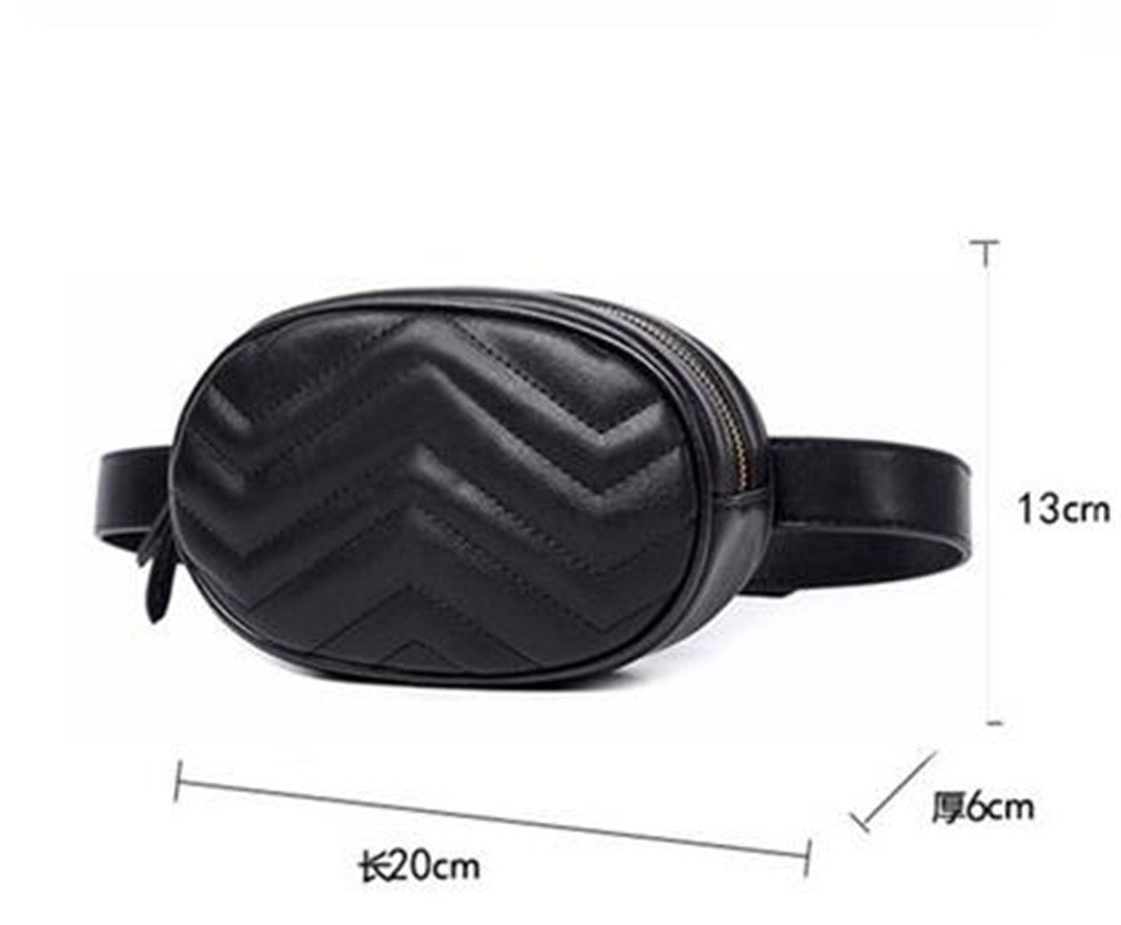 XUEERBAO Women Waist Fanny Packs Belt Bag Leather Chest Handbag NEW Fashion