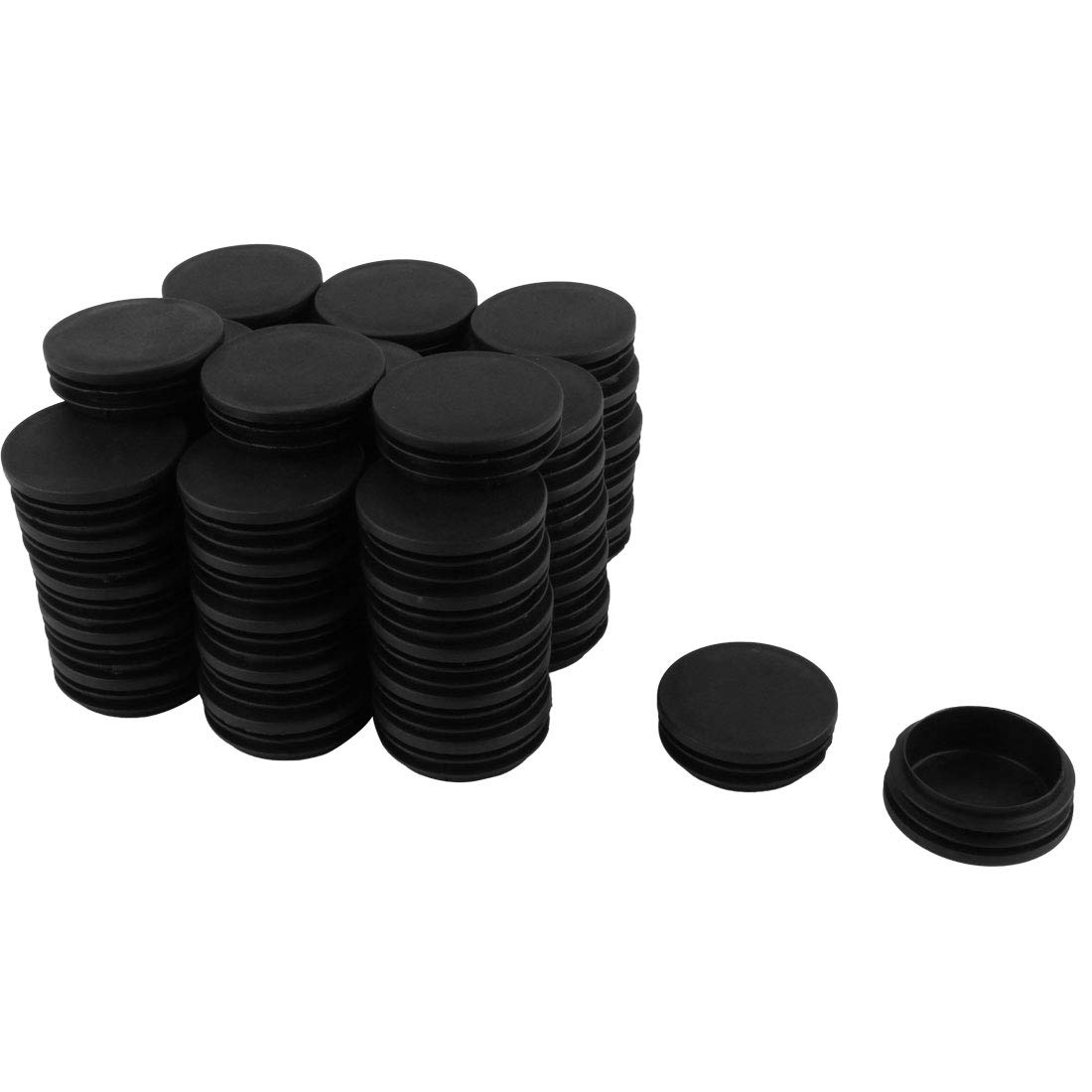 uxcell 50mm Diameter Plastic Cap Chair Table Legs Round Tube Insert 50 Pcs by uxcell (Image #1)