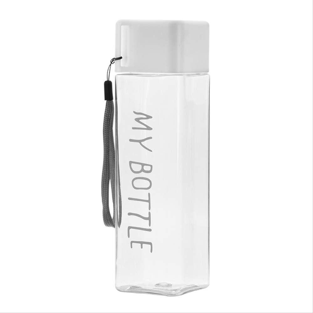KOUAJ Botella de Agua Botellas De Agua De Plástico Cuadrado para ...