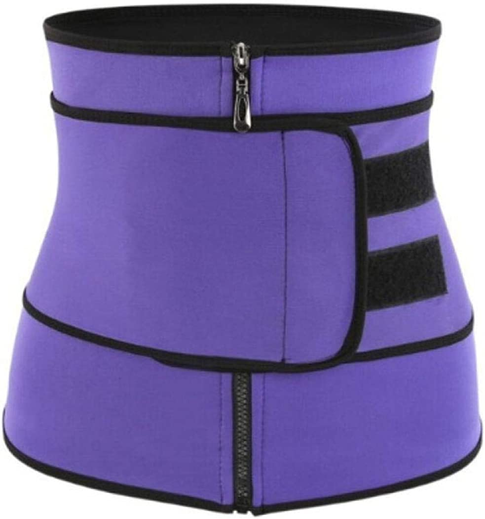 Tilloe Unisex Waist Trainer Corset,Women Men Body Shaping Zipper Abdomen Belt Sports Belt Waist Cinchers