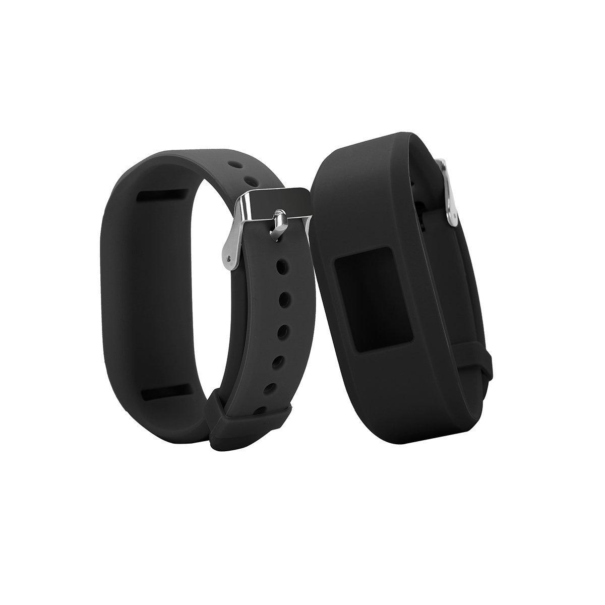 TenYun Replacement Silicon Bracelet Strap for Garmin Vivofit JR Fitness Bands 10-Pack ECSEM