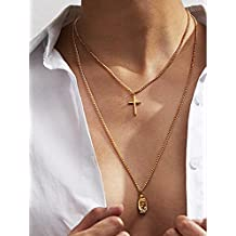 Artio Layered Necklace Jewelry with Cross and Buddha for Women and Men NKP-546