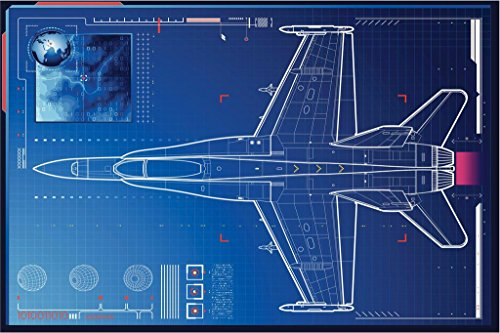 Air Force Monitoring Advanced Tactical Fighter Art Print Poster 36x24 (Advanced Tactical Fighters)