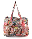 Oilily Painted Flowers Folding Shopper Stone OCB0117-9000, Women's Shopper, Grey (Stone 9000) 41 x 18 x 31 Grey Size: One size