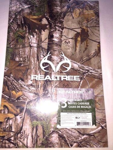 Realtree Gift box set (3) Camo 14.75X9.4X2 inches