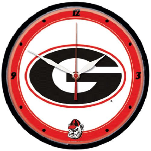 NCAA 2916111 University Of Georgia Round Wall Clock, 12.75
