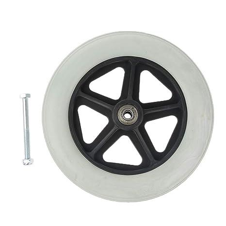 Rueda delantera antideslizante para silla de ruedas/movilidad, 8 pulgadas, piezas de repuesto para rueda delantera: Amazon.es: Salud y cuidado personal