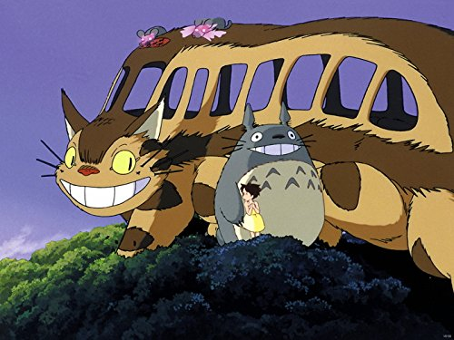 SV6156 My Neighbor Totoro Catbus Beautiful Painting Cat Bus Tonari no Totoro Anime Manga Art 24x18 Print POSTER