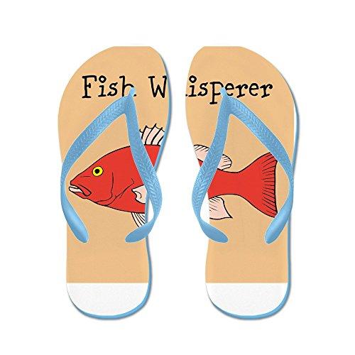 Blue Fish Thong Sandal (CafePress - Fish Whisperer - Flip Flops, Funny Thong Sandals, Beach Sandals)