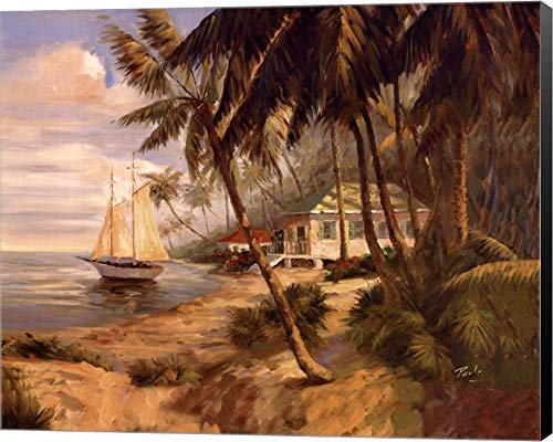 Bolo Key West Hideaway - Key West Hideaway by Enrique Bolo Canvas Art Wall Picture, Museum Wrapped with Black Sides, 12 x 10 inches