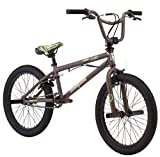 Mongoose Boys Flint Freestyle Bike, 20'', Army Green