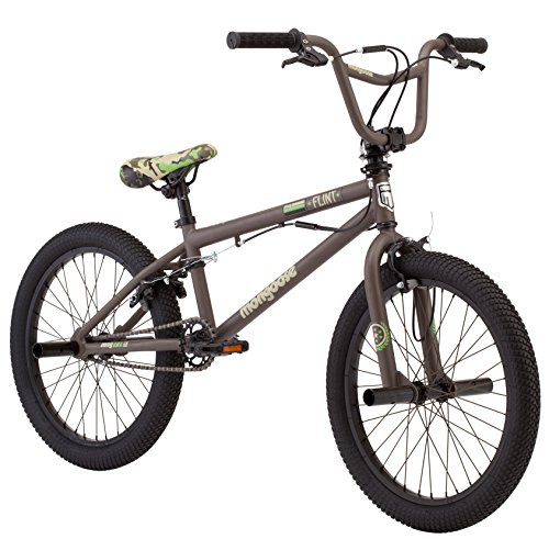 "Mongoose Boys Flint Freestyle Bike, 20"", Army Green"