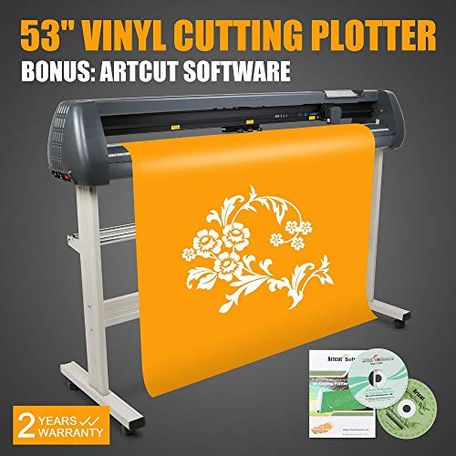 FINCOS New 53'' 1350mm Vinyl Cutter/Sign Cutting Plotter Pro W/Artcut Software Cut by FINCOS (Image #5)
