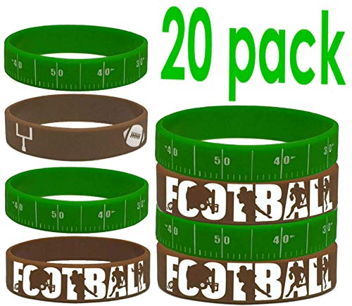 20 pcs Wristband Party Favors (Football, Kids)]()