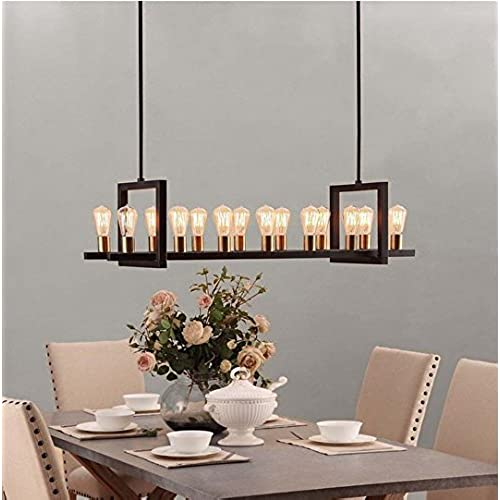 Griffin Metal Rectangular 14 Light Chandelier
