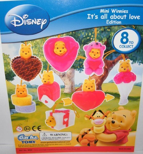 Winnie the Pooh Peek a Pooh Figure Set Its All About Love Figure Collection 20 by Gacha