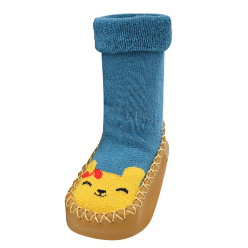 Zapatos Bebe Ni/ña Invierno Zolimx Beb/é Ni/ño Unisex Bautizo Reci/én Nacido de Dibujos Animados Suelo Antideslizante Suela de Goma Zapatillas de Caucho Suave