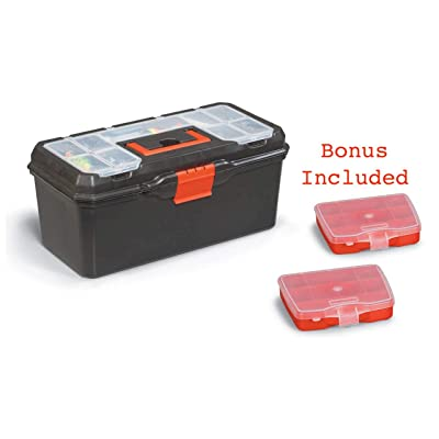 """Toolbox for Toys, Jewelry, Art, and Fishing Gear 16"""" x 7"""" x 8"""" 