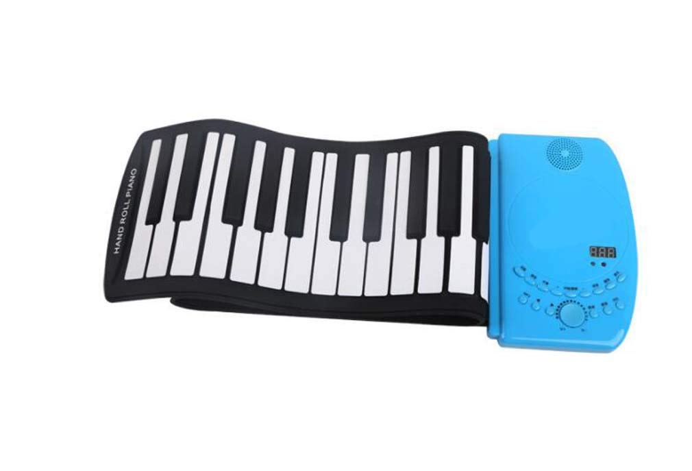 CE-LXYYD 88-Key Portable Hand roll Piano, Lithium Battery Rechargeable Stereo Waterproof Silicone Electronic Piano,with MP3, is The Best Gift for Friends and Family,Blue by CE-LXYYD
