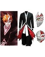 Bleach Kurosaki Ichigo Full set cosplay costume Full set,XL