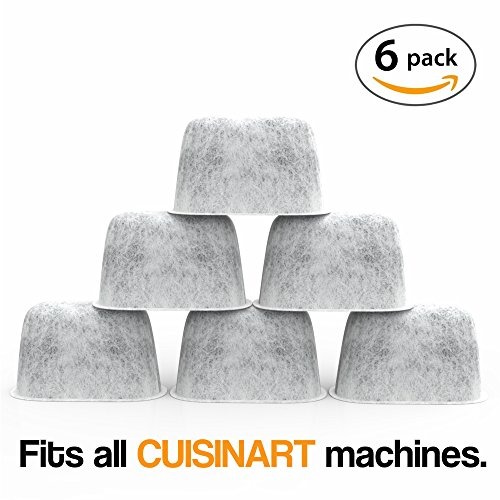 SPREAD - Pack of 6 Premium Charcoal Water Filters Designed for Cuisinart Coffee Makers. (Cusinart Red Coffee Maker)