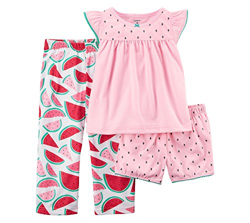 - Carter's Girls' 2T-16 3-Pc. Watermelon Pajama Set 3T