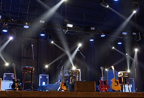 Yeele 10x6.5ft Band Stage Backdrop Spotlight Nightclub Show Rock Guitar Singing Performance Bar Photography Background Adult Portrait Photo Booth Video Shooting Vinyl Wallpaper Photocall Studio Props from Yeele
