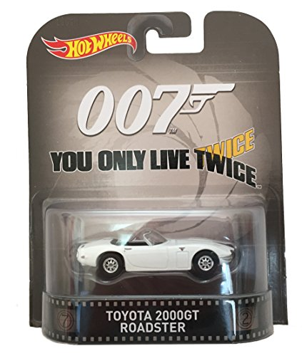 "Toyota 2000GT Roadster James Bond 007 ""You Only Live Twice"" Hot Wheels 2015 Retro Series 1/64 Die Cast Vehicle"