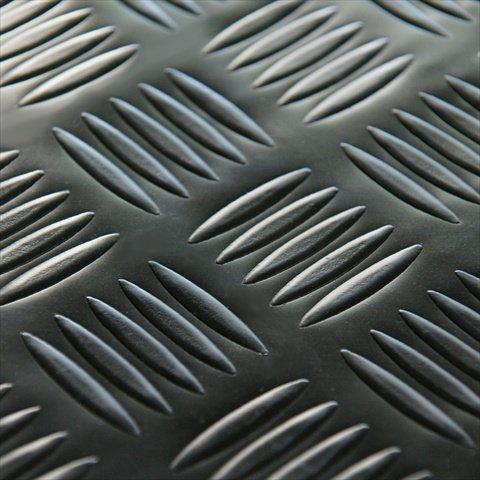 Rubber-Cal Diamond-Grip Floor Mat, Black, 2mm x 4 x 35-Feet by Rubber-Cal