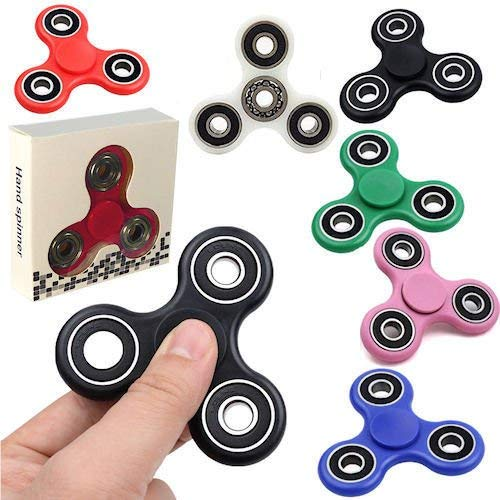 Tri Spinner Fidget Gadget Hand EDC Triangle Toy Wholesale Assorted Colors (BULK LOT OF 24X) by AK TRADING CO.