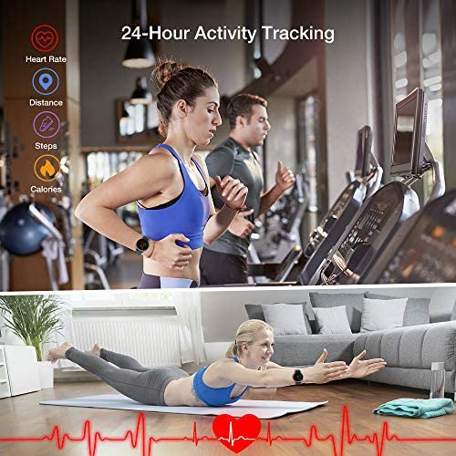 "Smart Watch, UMIDIGI Uwatch 2S Fitness Tracker Heart Rate Monitor, Activity Tracker with 1.3"" Touch Screen, 5ATM Waterproof Pedometer Smartwatch Sleep Monitor for iPhone and Android."