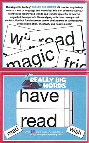 Magnetic Poetry - Kids Really Big Words Kit - Ages 5 and ...
