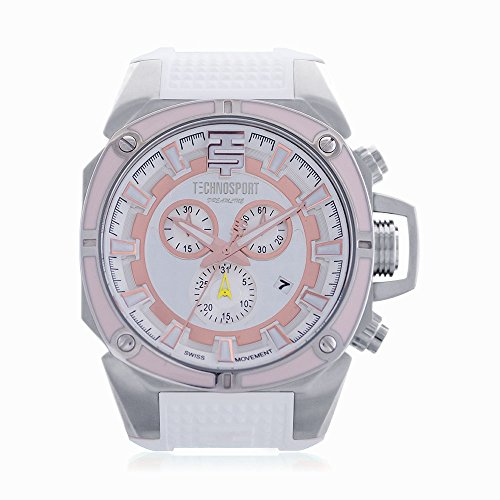 Technosport TS-100-88 Chronograph Women's Watch 44mm Silver Stainless Steel Case