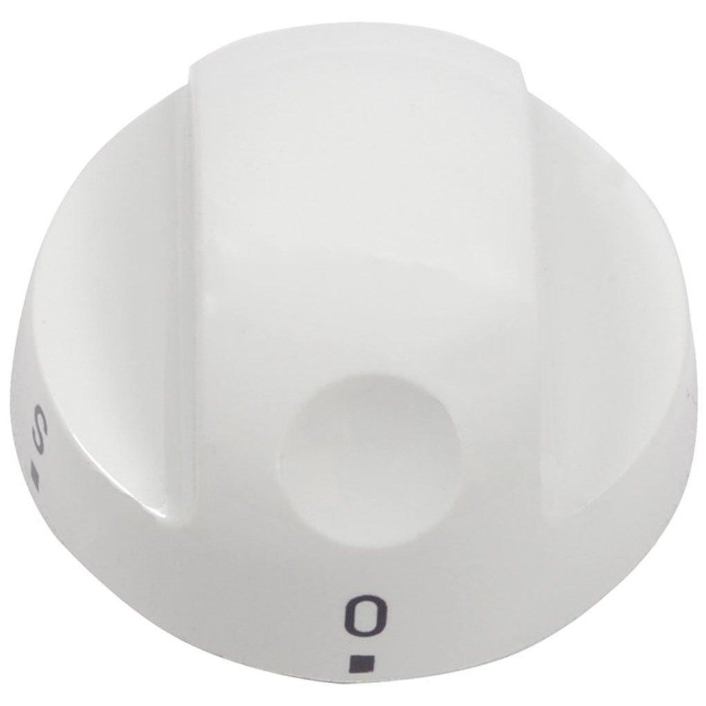 2 x Zanussi Cooker Oven Hob Control Knob White Switch Knobs ZCG563FW ZCG561FW
