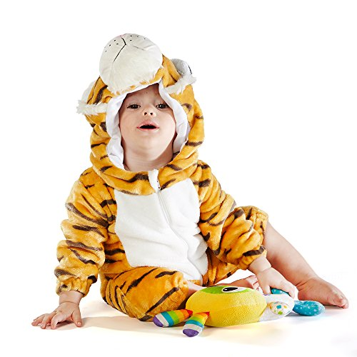 M&M SCRUBS Bengal Tiger Costume (12-18 Medium) ()