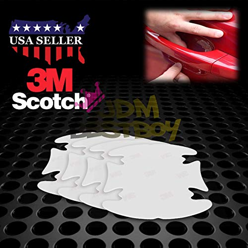 JDMBESTBOY 4PCs 3M Scotchguard Clear Door Handle Paint Scratch Protection Protector Protective Guard Film Bra Vinyl ()