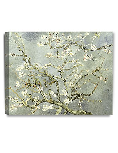 DecorArts- Silver Almond Blossom Tree, Vincent Van Gogh Art Reproduction, Giclee Print on 100% cotton Canvas for Home Decor and Wall Decor 20x16