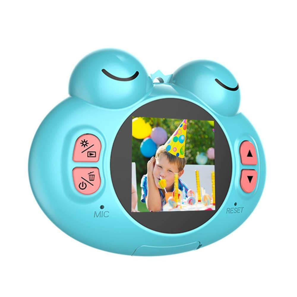 TEEPAO Child Camcorder, HD 1080P Frog Child Toy Camera with Neck Strap, Soft Silicone and Lightweight, Children Selfie Toy Camera for Boys and Girls by TEEPAO (Image #1)