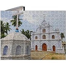 252 Piece Puzzle of Asia, India, Kerala, Kochi (Cochin). A small church in Kochi (13921514)