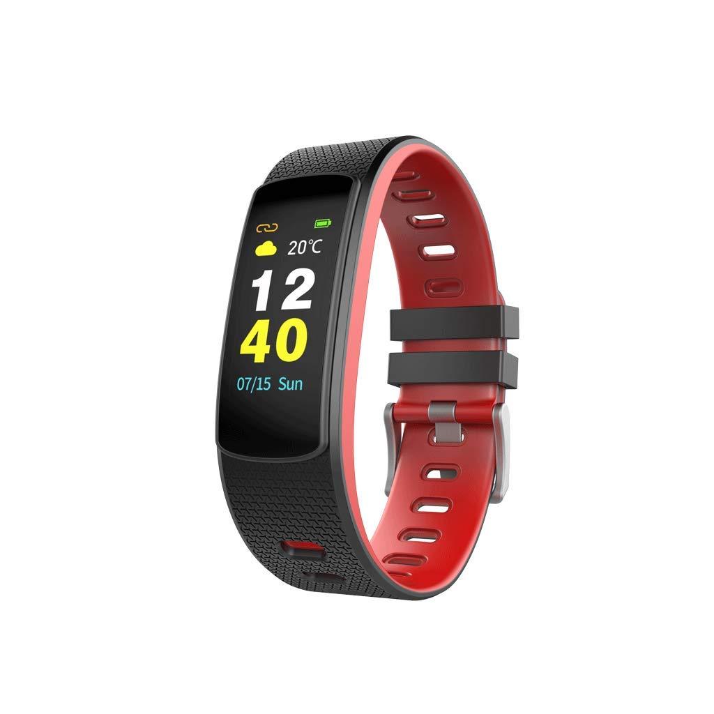 FEDULK Sport Wristband Smart Watch Screen Control Pedometer Fitness Healthy Life Tracker Fitness Smartwatch(Red) by FEDULK