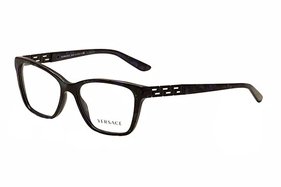 b3d5d9c72704 Amazon.com  Versace Eyeglasses VE3192B 5127 Marbled Black Green Blue ...
